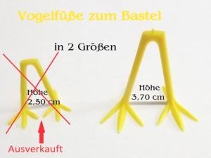Vogelfüße zum basteln, Gelb Kunststoff Küken basteln Oster-Dekoration, Osternest, Vogel sehr stabil - Handarbeit kaufen