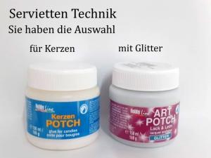 Serviettenlack Serviettenkleber Lack & Kleber für Serviettentechnik speziell für Kerzen oder mit Glitter 150 ml-Dose - Handarbeit kaufen
