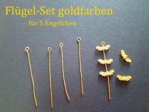 Schmuck-Zubehör-Sets zum selber basteln für 5 x kleine Engel, Glücksengel Auswahl ob goldfarben oder silberfarben - Handarbeit kaufen