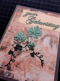 Handgearbeitete elegante Geburtstagskarte, vorzugsweise für die Herren