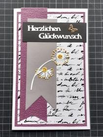 Handgearbeitete elegante Glückwunschkarte, für Männer und Frauen geeignet