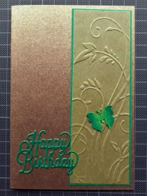 Handgearbeitete elegante Geburtstagskarte, typisches Herren-Designe, Karte