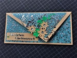 """Handgearbeitete elegante Glückwunschkarte, """"Eine für alle"""""""