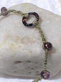 Handgefertigtes  Makramee-Armband aus Naturgarn  - Handarbeit kaufen