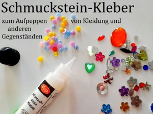 Schmuckstein-Kleber für Strass-Steine Halbperlen & mehr, zum Verzieren von Textilien Leder Kunststoff-Gegenständen Pappe & Papier  - Handarbeit kaufen