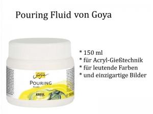 Pouring Fluid, ein Fließ-Medium für Acrylbilder, für alle Fließ-Techniken, 150 ml von Goya / Kreul - Handarbeit kaufen