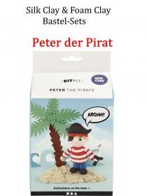 Bastel-Set Foam-Clay & Silk-Clay - Peter der Pirat- Lufttrocknende Knete, Komplett-Set mit allem Zubehör, Kinderbasteln - Handarbeit kaufen