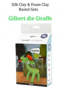 Bastel-Set Foam-Clay & Silk-Clay - Gilbert die Giraffe- Lufttrocknende Knete, Komplett-Set mit allem Zubehör, Kinderbasteln - Handarbeit kaufen