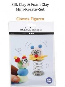 Mini-Kreativ-Set, Foam-Clay & Silk-Clay - Clowns- Lufttrocknende Knete, Komplett-Set mit allem Zubehör, Kinderbasteln - Handarbeit kaufen