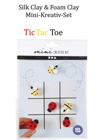 Mini-Kreativ-Set, Foam-Clay & Silk-Clay - Tic Tac Toe-Spiel- Lufttrocknende Knete, Komplett-Set mit allem Zubehör, Kinderbasteln - Handarbeit kaufen