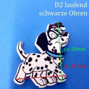 Kinderknopf / Knöpfe aus lackiertem Holz > aus 101 Dalmatiner  D2, Hund, Hündchen, Welpe, Zierknopf - Handarbeit kaufen