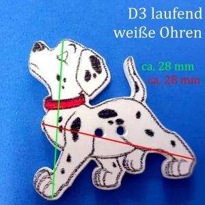 Kinderknopf / Knöpfe aus lackiertem Holz > aus 101 Dalmatiner  D3, Hund, Hündchen, Welpe, Zierknopf - Handarbeit kaufen