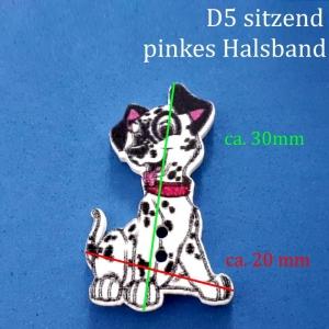 Kinderknopf / Knöpfe aus lackiertem Holz > aus 101 Dalmatiner  D5, Hund, Hündchen, Welpe, Zierknopf - Handarbeit kaufen