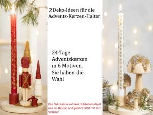 passende AdventsKerzen zum Kerzenständer aus unbehandelten Holz zum dekorieren,  - Handarbeit kaufen