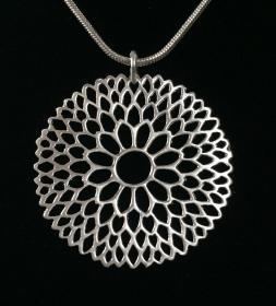 Silberanhänger handgefertigt - filigranes Rondell - Unikat - Handarbeit kaufen