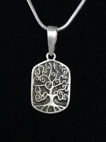 Silberanhänger handgefertigt  mit Baum des Lebens - Unikat - Handarbeit kaufen