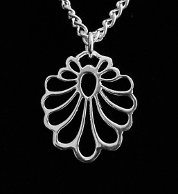 Silberanhänger handgefertigt mit floralem Design - Unikat - Handarbeit kaufen