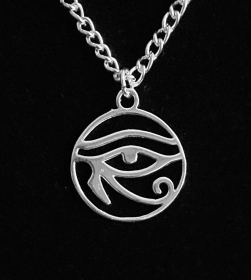 Silberanhänger handgefertigt ägyptisches Horus Auge - Unikat - Handarbeit kaufen