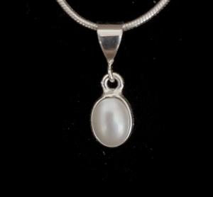 Silberanhänger handgefertigt mit Süßwasserperle - Unikat - Handarbeit kaufen