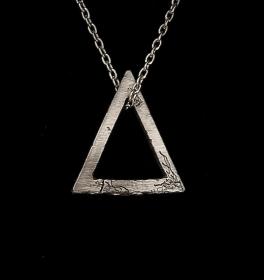 Männerschmuck - Silberanhänger handgefertigt - Triangle - Unikat