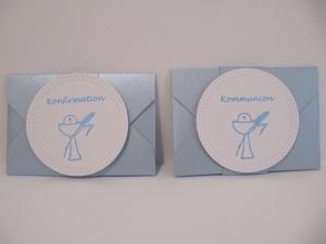 Verpackung für Gutscheinkarte/Geld zur Konfirmation oder KommunionIn