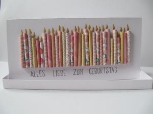 Geburtstagskarte in einer Geschenkbox
