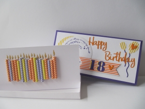 Für einen 18. Geburtstags mit Karte in einer Geschenkbox