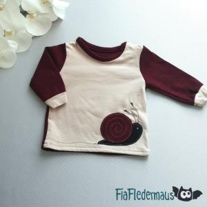 Selbstgenähtes Babyshirt mit Schneckenapplikation in Größe 68 kaufen  - Handarbeit kaufen