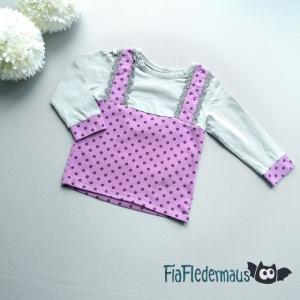 Selbstgenähtes Babyshirt mit 2-in-1 Look in Größe 80 kaufen  - Handarbeit kaufen