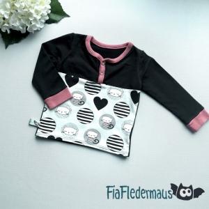 Selbstgenähtes Babyshirt mit Katzen in Größe 86 kaufen   - Handarbeit kaufen