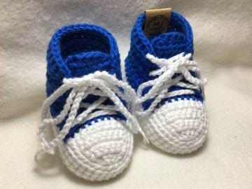 gehäkelte Babysneakers 3.0 Babyschuhe - 9 cm Sohlenlänge (0-3 Monate) - sofort lieferbar (Kopie id: 100046238)