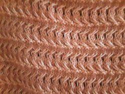 Handgestrickter Kurzarmpullover für Damen Gr. 44