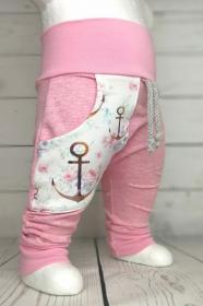 Baby Halstuch Dreieckstuch Anker Altrosa handmade Puschel-Design