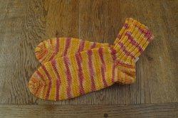 Schicke Socken aus 6-fach Sockenwolle in Größe 38/39, besonders warm