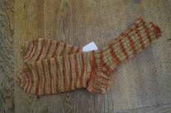 Schicke Socken aus 6-fach Sockenwolle in Größe 41/42, besonders warm