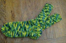 Schicke Kindersocken aus 6-fach Sockenwolle in Größe 34, besonders warm