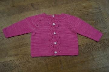 Babyjacke in pink, Größe für Babys von 12 bis 18 Monate, 80 bis 92, Einzelstück