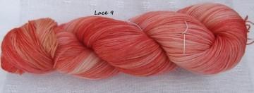 Lanartus Lacegarn, handgefärbt, jeder Strang ein Unikat
