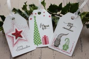 Handgefertigte Geschenkanhänger für Weihnachtsgeschenk