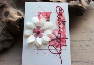 Handgefertigte Geburtstagskarte - Glückwunschkarte von Kartenmeer