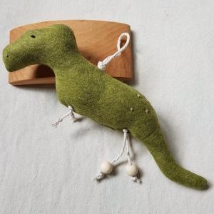 Handgefertigter, dreidimensionaler Girlanden- Anhänger ´Tyrannosaurus` Grün, aus hochwertigen und natürlichen Materialien  - Handarbeit kaufen