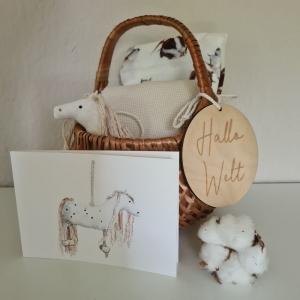 Geschenkset zur Geburt ´Pony-Kleiner Onkel`  - Handarbeit kaufen