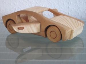UNIKAT Rennauto Sportauto Holzauto Modellauto Sportwagen Auto PKW NEU Holz
