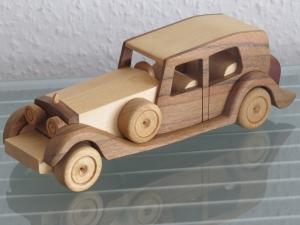 Oldtimer Limousine UNIKAT Holzauto Modellauto Auto NEU Holz