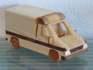 RTW Rettungswagen Rettungsdienst Krankenwagen Blaulicht UNIKAT Holzauto Modellauto Auto PKW NEU Holz  - Handarbeit kaufen