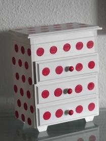 Schmuckkästchen Holzschatulle Holzkästchen Holzkiste Schatulle Box Holz 3 Schubladen  - Handarbeit kaufen