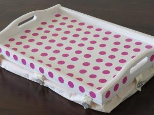 Tablett Holz Holztablett Serviertablett Betttablett Kissen Laptopunterlage XXL   - Handarbeit kaufen