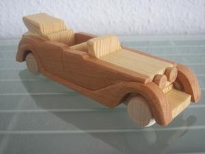 Oldtimer Cabrio Limousine UNIKAT Holzauto Modellauto Auto NEU Holz  - Handarbeit kaufen