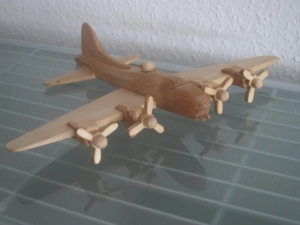 Flugzeug Bomber Flieger Modellflugzeug Oldtimer Passagierflugzeug Modell - Handarbeit kaufen