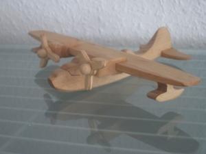 Flugzeug Bomber Wasserflugzeug Flieger Modellflugzeug Oldtimer Passagierflugzeug Modell  2 Weltkrieg Holz